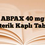 ABPAX 40 mg Enterik Kaplı Tablet