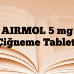 AIRMOL 5 mg Çiğneme Tableti