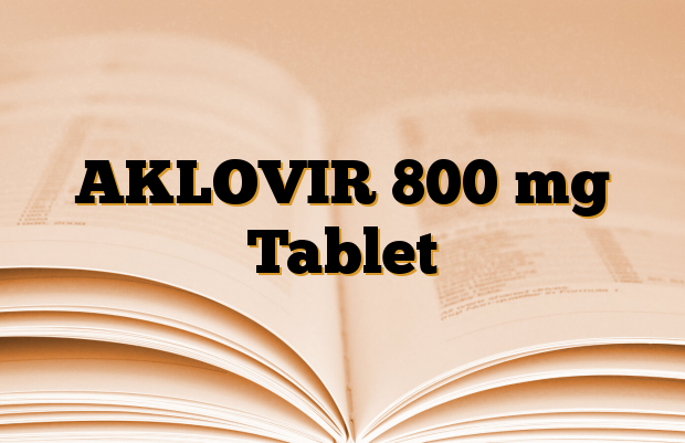 AKLOVIR 800 mg Tablet