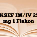 AKSEF IM/IV 250 mg 1 Flakon