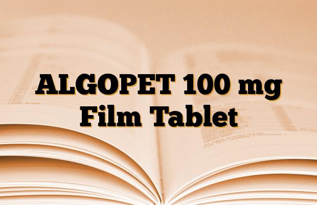 ALGOPET 100 mg Film Tablet