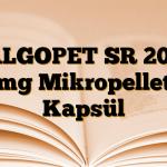 ALGOPET SR 200 mg Mikropellet Kapsül