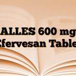 ALLES 600 mg Efervesan Tablet
