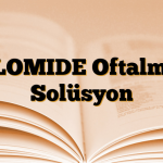 ALOMIDE Oftalmik Solüsyon
