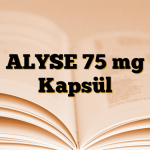 ALYSE 75 mg Kapsül