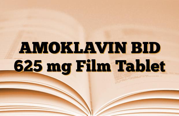 AMOKLAVIN BID 625 mg Film Tablet