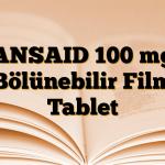 ANSAID 100 mg Bölünebilir Film Tablet