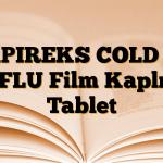 APIREKS COLD & FLU Film Kaplı Tablet