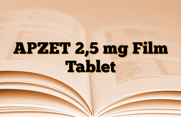 APZET 2,5 mg Film Tablet