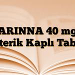 ARINNA 40 mg Enterik Kaplı Tablet