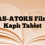 AS-ATOKS Film Kaplı Tablet