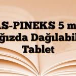 AS-PINEKS 5 mg Ağızda Dağılabilir Tablet