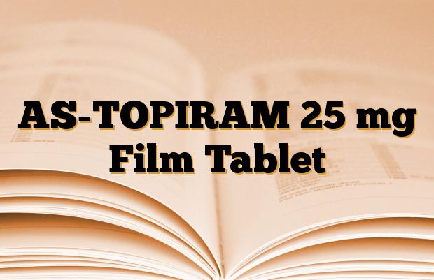 AS-TOPIRAM 25 mg Film Tablet