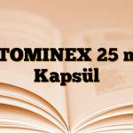 ATOMINEX 25 mg Kapsül