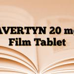 AVERTYN 20 mg Film Tablet