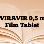 AVIRAVIR 0,5 mg Film Tablet