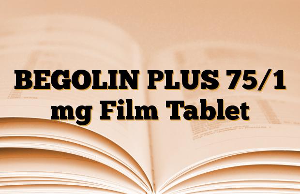 BEGOLIN PLUS 75/1 mg Film Tablet