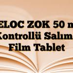 BELOC ZOK 50 mg Kontrollü Salımlı Film Tablet