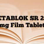 BETABLOK SR 200 mg Film Tablet