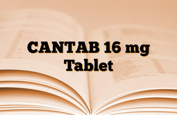 CANTAB 16 mg Tablet