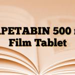 CAPETABIN 500 mg Film Tablet