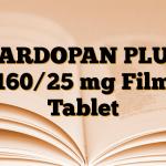 CARDOPAN PLUS 160/25 mg Film Tablet