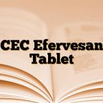 CEC Efervesan Tablet