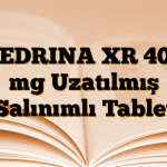 CEDRINA XR 400 mg Uzatılmış Salınımlı Tablet