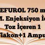 CEFUROL 750 mg I.M. Enjeksiyon İçin Toz İçeren 1 Flakon+1 Ampul