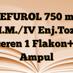 CEFUROL 750 mg I.M./IV Enj.Toz İçeren 1 Flakon+ 1 Ampul