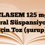 CLASEM 125 mg Oral Süspansiyon için Toz (şurup)