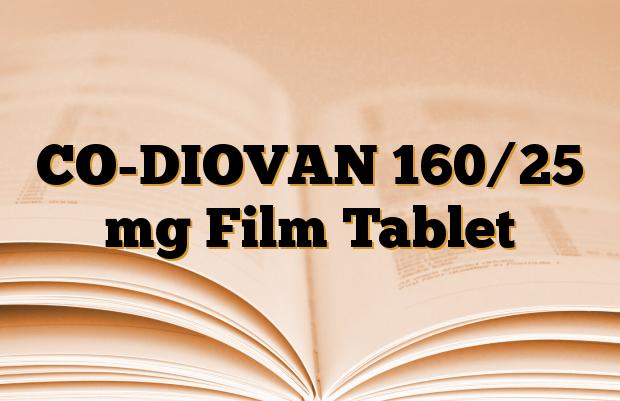CO-DIOVAN 160/25 mg Film Tablet