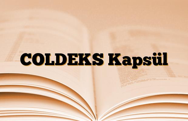 COLDEKS Kapsül