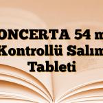 CONCERTA 54 mg Kontrollü Salım Tableti