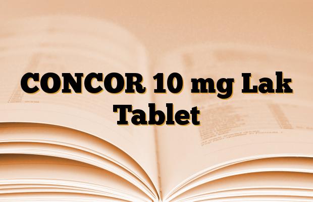 CONCOR 10 mg Lak Tablet