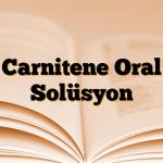 Carnitene Oral Solüsyon