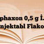 Cephaxon 0,5 g İ.M. Enjektabl Flakon