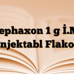 Cephaxon 1 g İ.M. Enjektabl Flakon