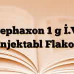 Cephaxon 1 g İ.V. Enjektabl Flakon