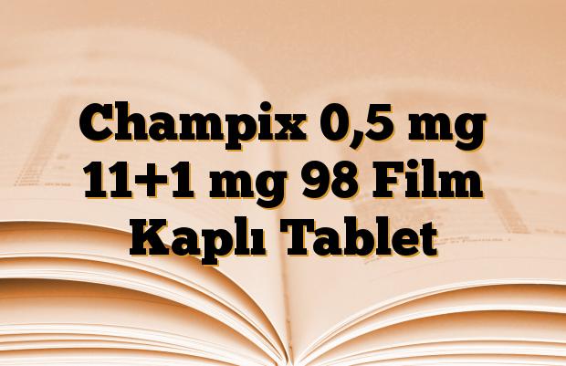 Champix 0,5 mg 11+1 mg 98 Film Kaplı Tablet