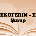 DEKOFERIN – EX Şurup