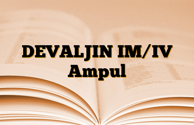DEVALJIN IM/IV Ampul