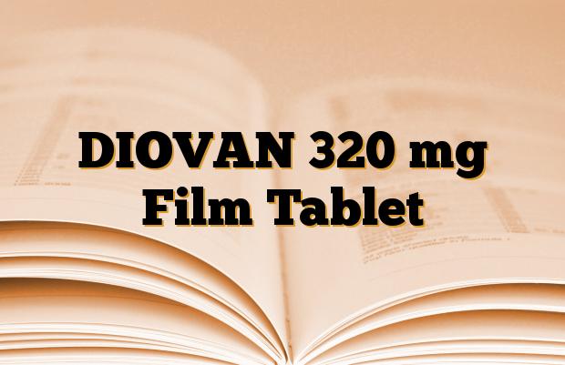 DIOVAN 320 mg Film Tablet