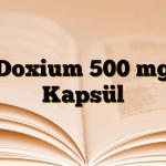 Doxium 500 mg Kapsül