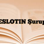 ESLOTIN Şurup