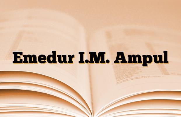Emedur I.M. Ampul
