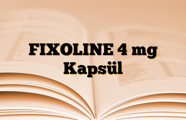 FIXOLINE 4 mg Kapsül
