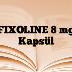 FIXOLINE 8 mg Kapsül
