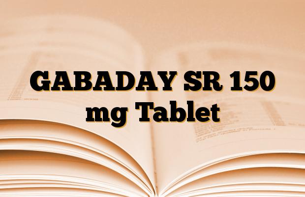 GABADAY SR 150 mg Tablet