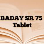 GABADAY SR 75 mg Tablet